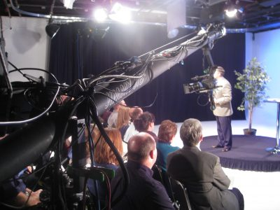 Video studio with audience