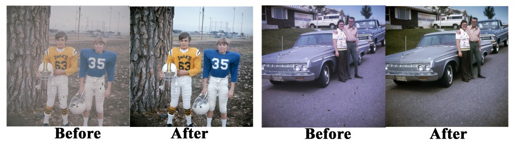 35mm Slide Transfers with color correction and restoration