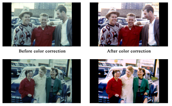digital film transfer color correction