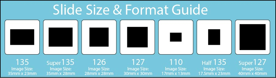 35mm slide formats we convert to digital